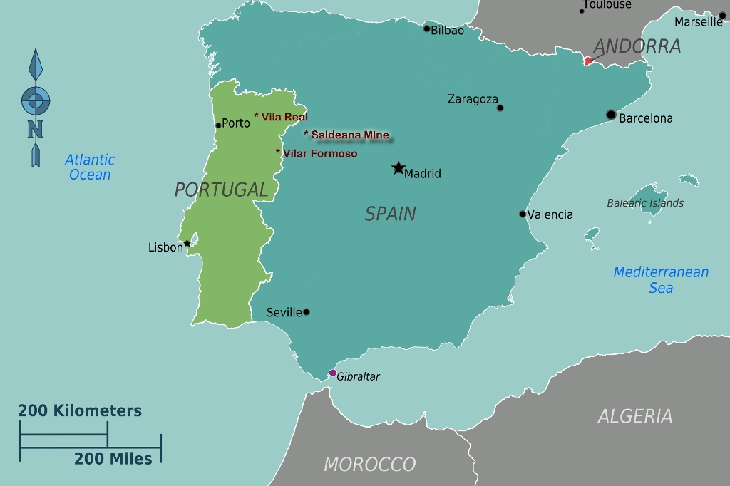 Portugal and Spain - Saldeana Wolfram Mine