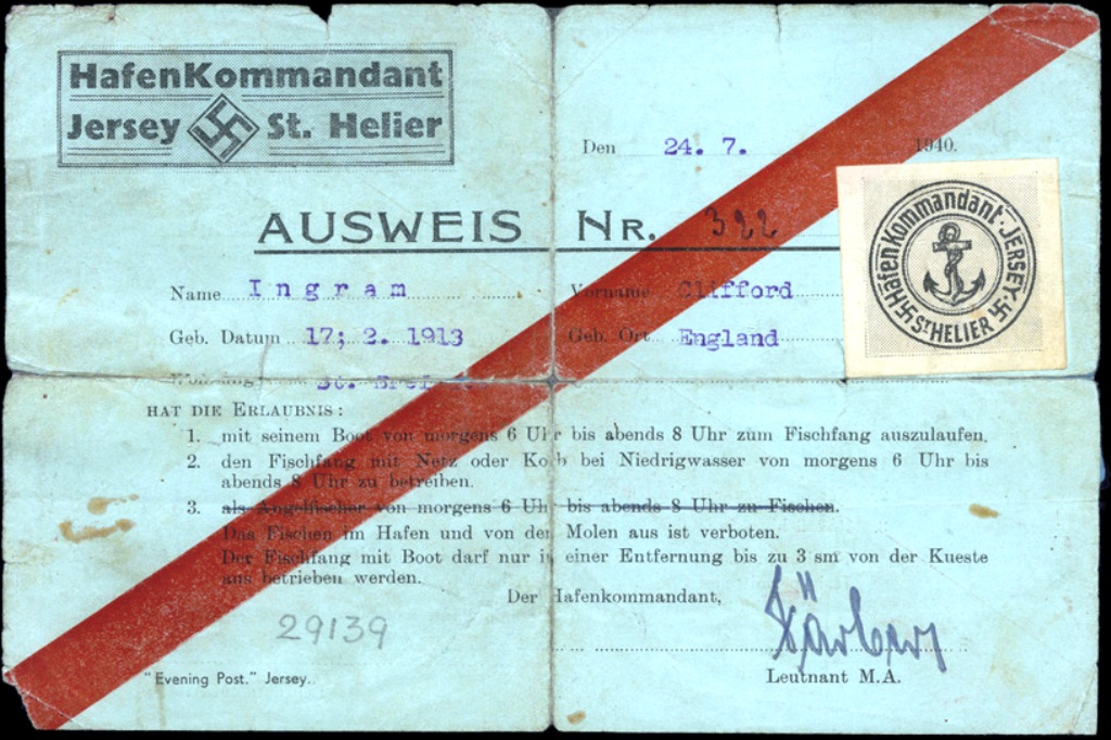 German issued fishing permit