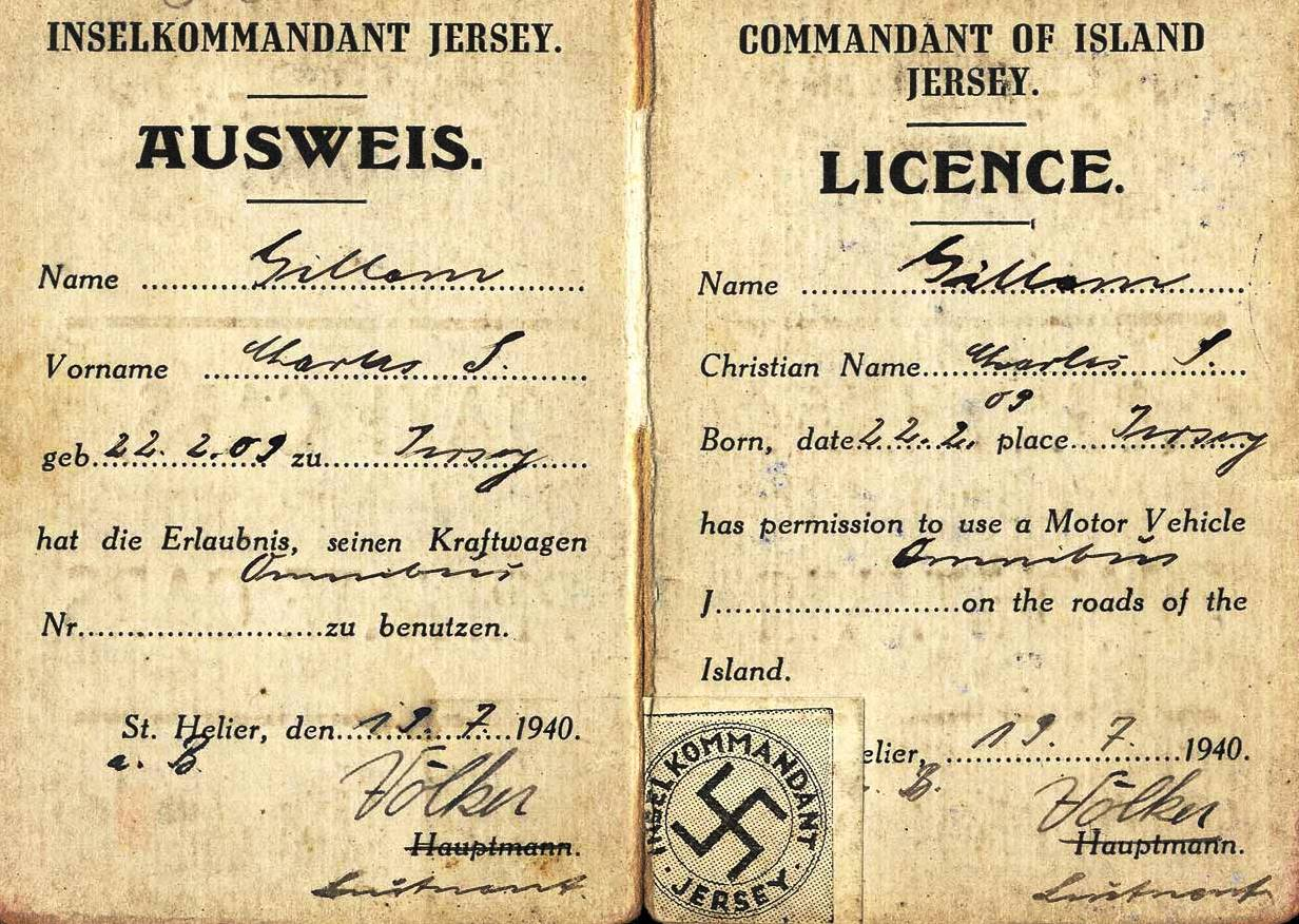 Jersey - German issued driving licence
