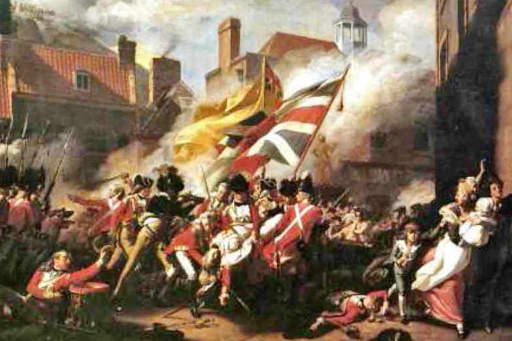 1781 Battle of Jersey - British garrison defeat French invaders